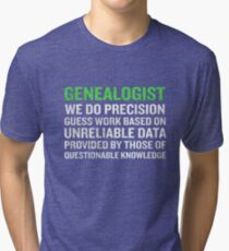 Genealogy Meaning Funny Genealogists Term Gift Tri-blend T-Shirt