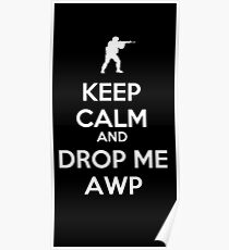 Counter Strike keep calm awp Poster