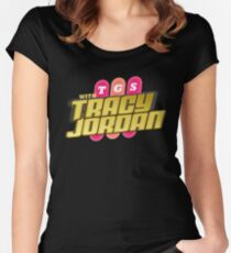 TGS with Tracy Jordan : Inspired By 30 Rock Women's Fitted Scoop T-Shirt