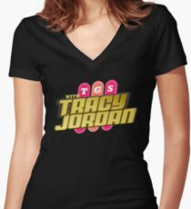 TGS with Tracy Jordan : Inspired By 30 Rock Women's Fitted V-Neck T-Shirt