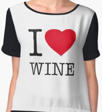 I ♥ WINE Women's Chiffon Top