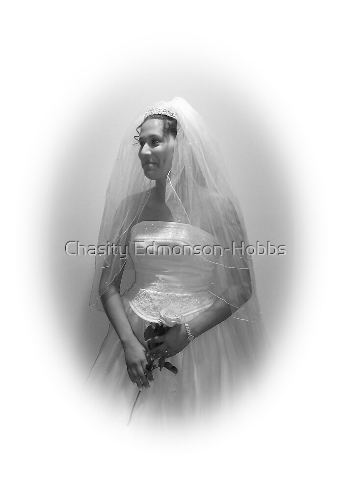 Bride in black & white by Chasity Edmonson-Hobbs