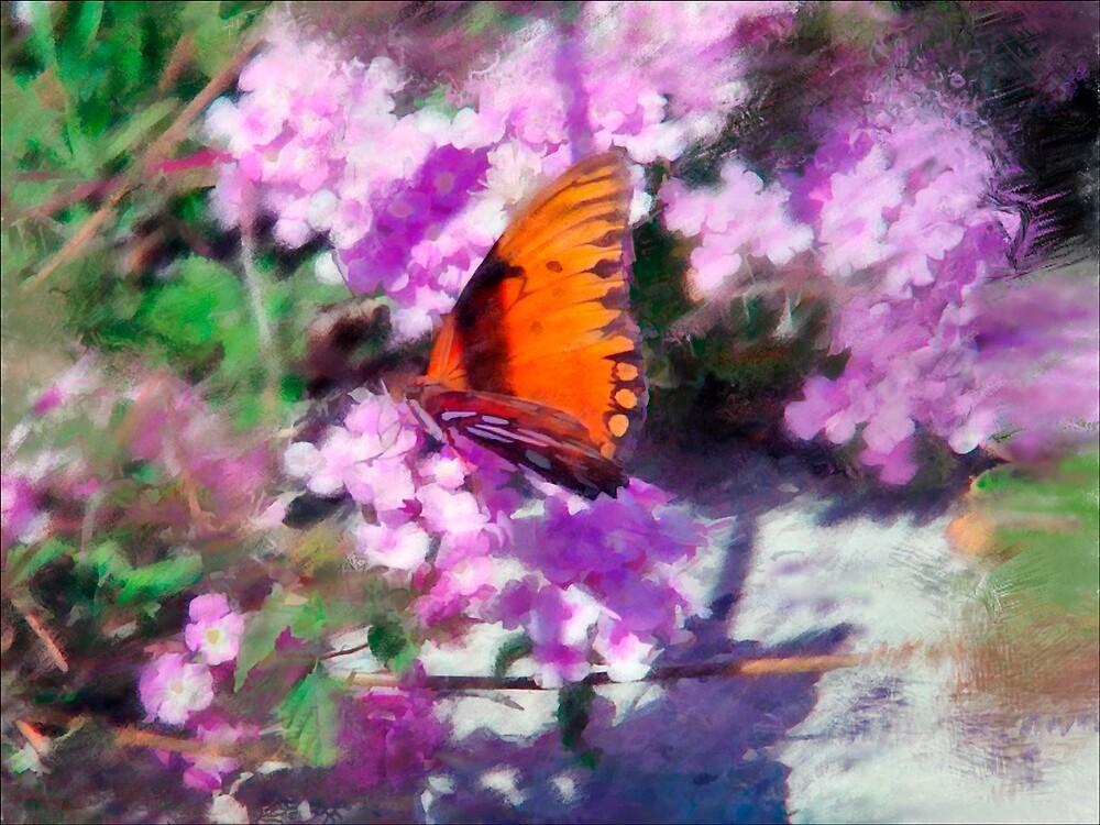 Orange Butterfly by DigitalMuse