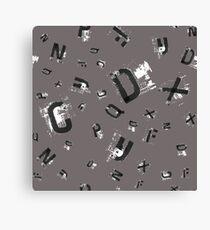 Grunge Alphabet. Hand drawn font. Canvas Print