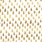 Gold Raindrop Pattern by valerielongo
