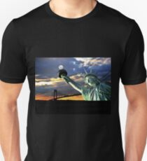 Statue of Liberty Holding the Moon T-Shirt