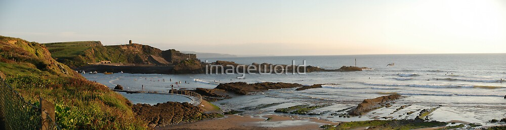 Summerleaze Beach, Bude by imageworld