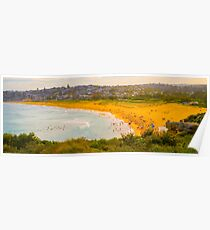 Summer Daze at Curl Curl Beach Poster