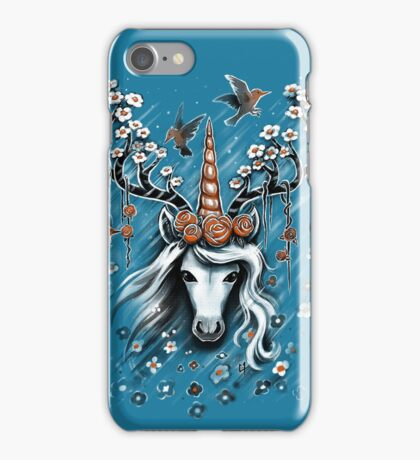 Deer Unicorn Flowers iPhone Case/Skin