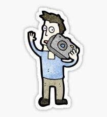 cartoon man with camera Sticker
