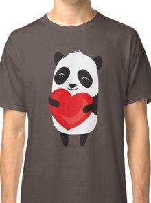 Panda love. Cute cartoon illustration Classic T-Shirt