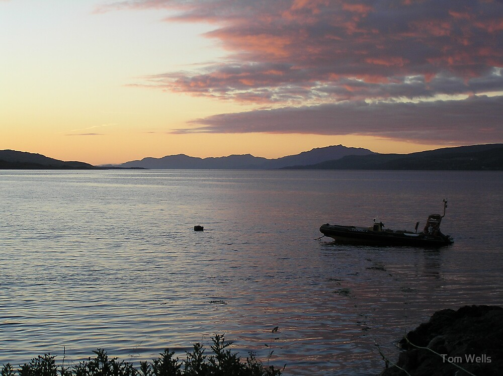 Hebridian Sunset by Tom Wells