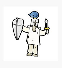 cartoon medieval knight Photographic Print