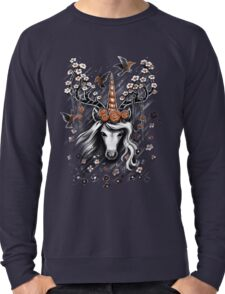 Deer Unicorn Flowers Lightweight Sweatshirt