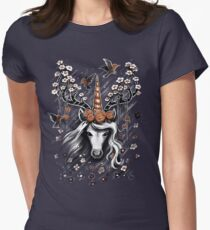 Deer Unicorn Flowers T-Shirt