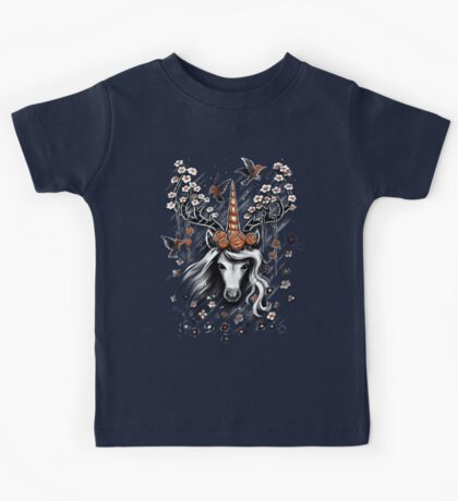 Deer Unicorn Flowers Kids Clothes