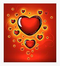 Hearts Photographic Print