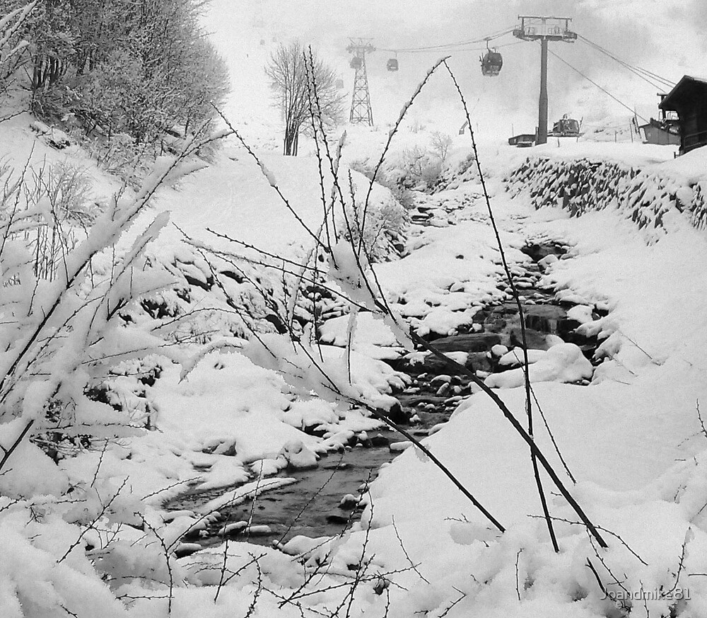 Snowy Stream by Joandmike81