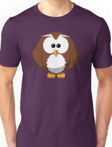 Cute Funny Cartoon Silly Owl Character Doodle T Shirts And Gifts Unisex T-Shirt