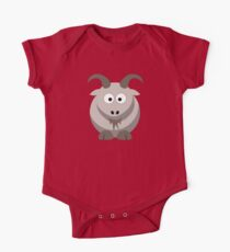 Cute Funny Cartoon Goat Character Doodle  Drawing T Shirts And Gifts One Piece - Short Sleeve