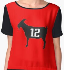 tom brady 12 goat Chiffon Top