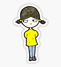 cartoon annoyed girl Sticker