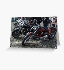 motorcycles Greeting Card