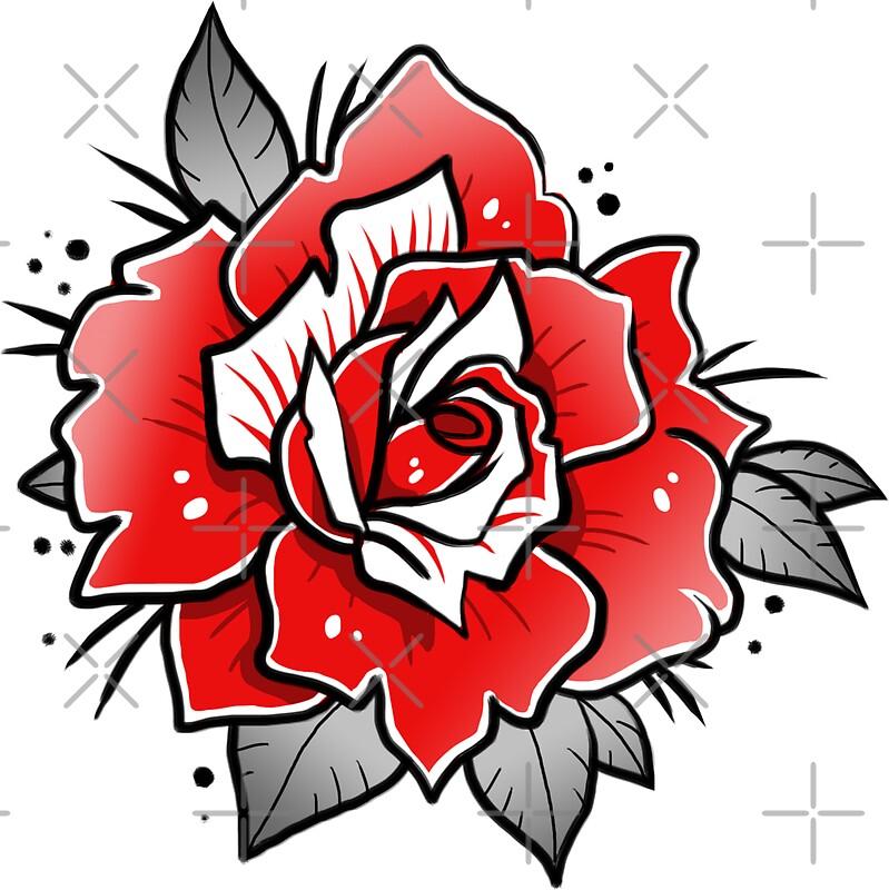 old school rose tattoos wwwpixsharkcom images