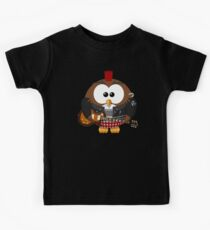 Punk Grunge Rock Guitar Cartoon Owl - Funny Anarchy Music Band Comic T Shirts And Gifts Kids Clothes