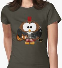 Punk Grunge Rock Guitar Cartoon Owl - Funny Anarchy Music Band Comic T Shirts And Gifts T-Shirt