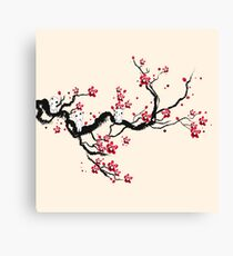 Kodama on a cherry tree Canvas Print