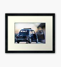 Fiat 500L scale model Framed Print