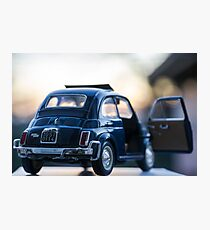 Fiat 500L scale model Photographic Print