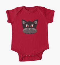 Cool Angry Crazy Mad Red Eyes Cat Cartoon Drawing T Shirts And Gifts One Piece - Short Sleeve