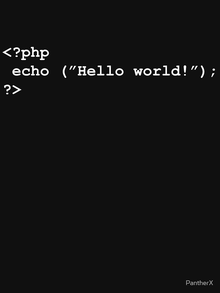 Hello world! by PantherX