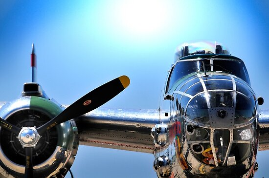 "MITCHELL B-25 MEDIUM BOMBER ""Panchito"" by Duane Salstrand"
