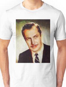 Vincent Price, Vintage Hollywood Actor Unisex T-Shirt