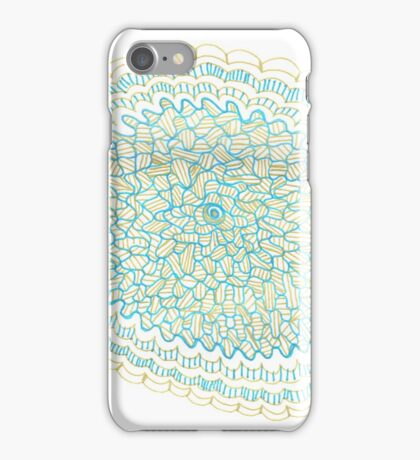 Gold & Azure Mandala iPhone Case/Skin