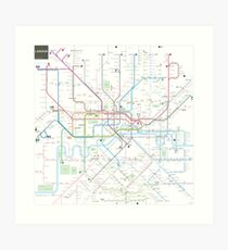 London tube map Art Print