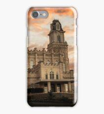Manti LDS Temple Sky on Fire iPhone Case/Skin