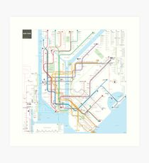 New York City subway map Art Print