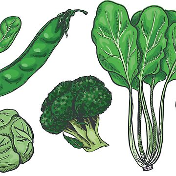 Green Vegetable pattern by Kerris-clothes