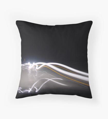 Lights Motion on Black Throw Pillow