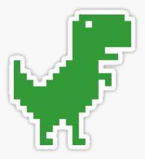 Pixel T-Rex (Green) Sticker