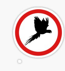 Divieto pappagalli Sticker