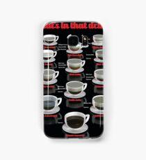 Coffee Drink Infographic Samsung Galaxy Case/Skin