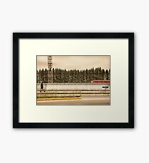 Red Steel Blue Denim Framed Print