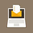 Letter on the laptop by Aleksander1