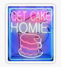 Get Cake Homie Sticker