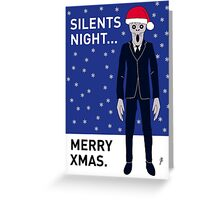 Doctor Who Silents Xmas Card Greeting Card